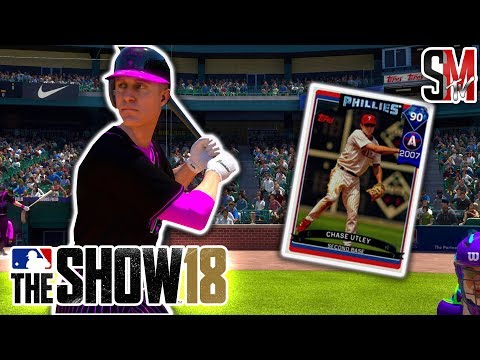 Is This The Best Card To Play First Base? Chase Utley Debut! MLB The Show 18 Gameplay