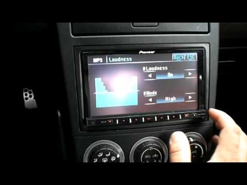 Pioneer AVH-P4100DVD in 2004 Nissan 350z - YouTube