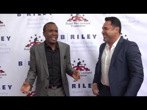 Oscar Dela Hoya arrives at Sugar ray Leonard event - EsNews Boxing