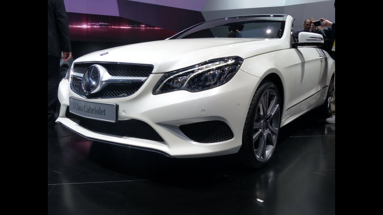 Watch 5 new 2014 mercedes benz e class cars debut at the for New car mercedes benz
