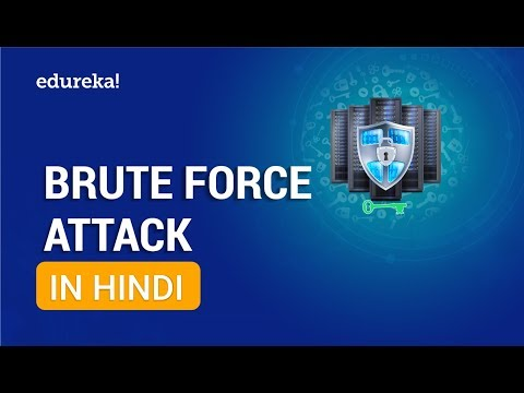 Brute Force Attack [Hindi] | How To Crack Password Using Brute Force Attacks [Hindi] | Edureka Hindi