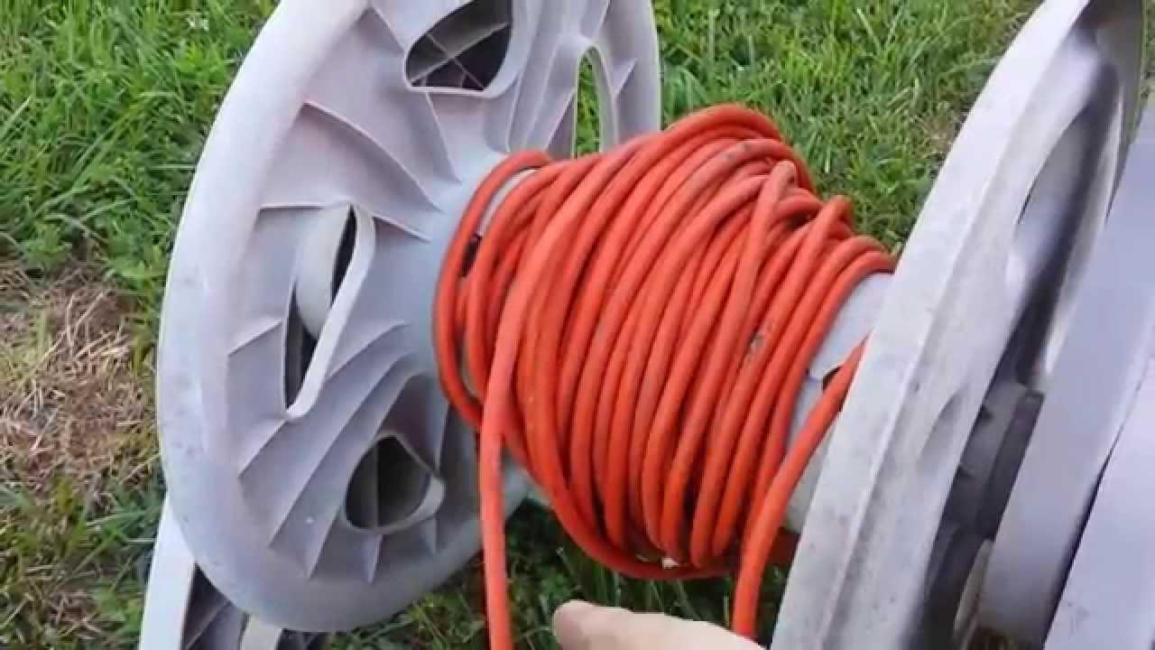 How to recycle a broken garden hose reel - YouTube