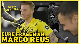 """""""what advice do you have for young footballers?"""" and your tattoos mean?"""" were just two of the questions wanted erné to ask marco reus. as al..."""