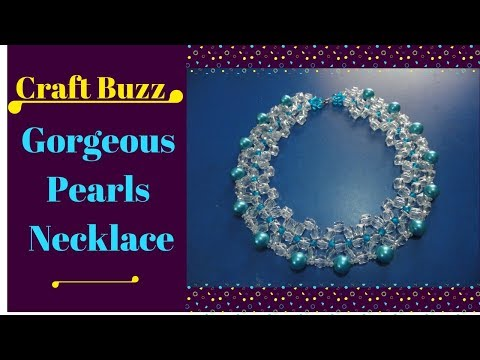 Royal Blue Gorgeous Pearls Necklace 👤 How to make a beautiful pearl necklace?