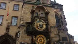 Astronomic clock in Prague. Hourly bell