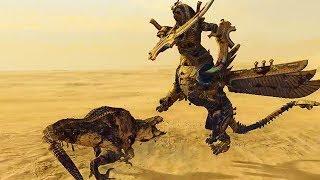 Necrosphinx VS Feral Carnosaur - Tests Total War Warhammer 2