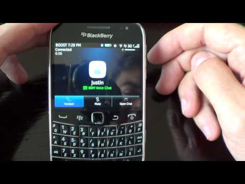BBM Voice Chat In BlackBerry Messenger Version 7