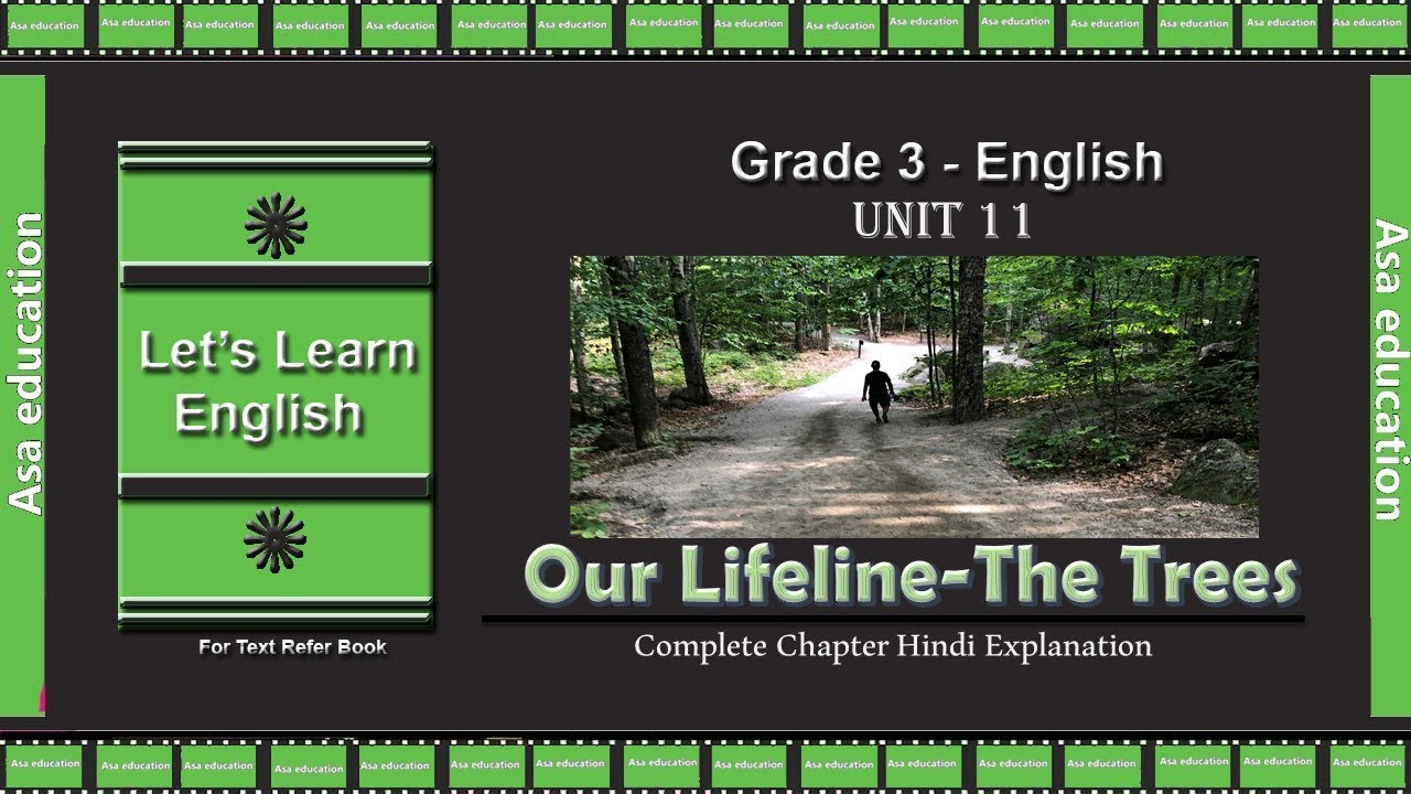 Ch 11 Our Lifeline-The Trees (English, Grade 3, RBSE) The Ins and Outs-Hindi
