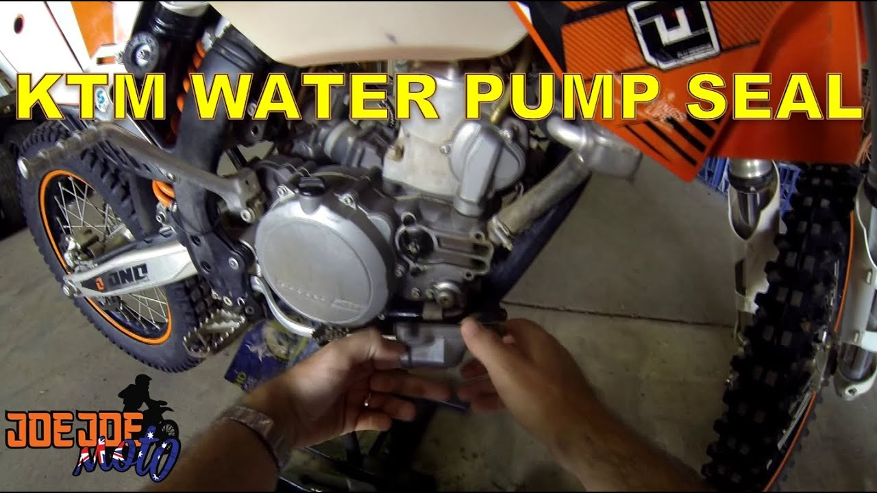 how to replace the water pump seal on ktm [ 1280 x 720 Pixel ]