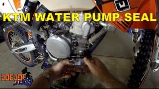 How To Replace The Water Pump Seal On KTM