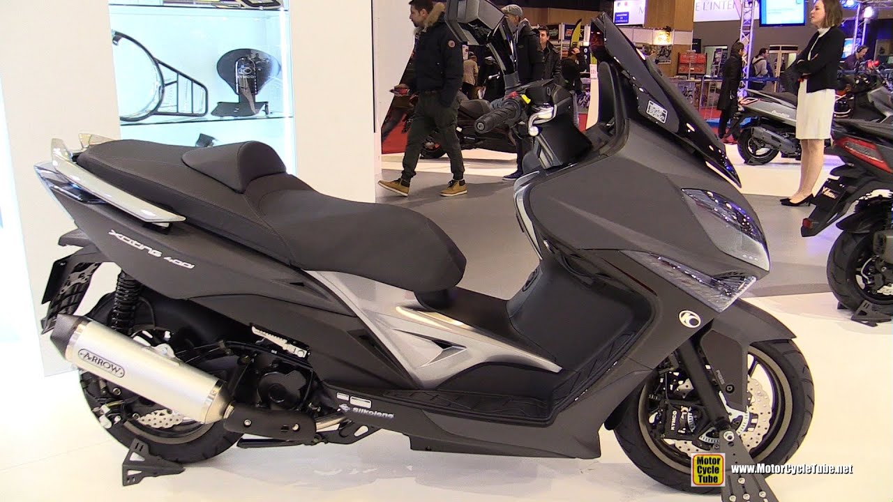 2016 kymco xciting 400i abs scooter walkaround 2015 for Salon du scooter 2017