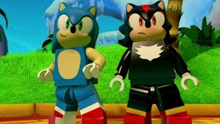 LEGO Dimensions - Sonic the Hedgehog Free Roam Gameplay (Sonic Adventure World)