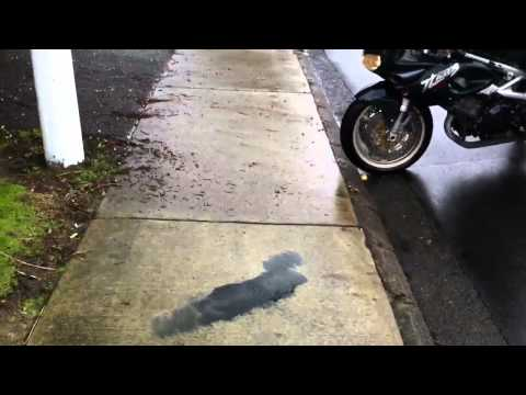 Burnout On My 97 Suzuki TL1000S With Two Brothers Exhaust