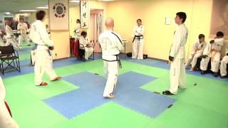 ITF Taekwon-do Tournament Sparring - Yellow vs Blue belt [HD]