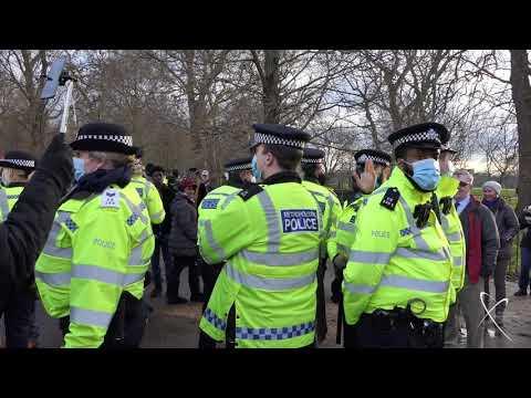 2nd January 2021, Anti Restriction Protest - Multiple Arrests. Hyde Park, London W1