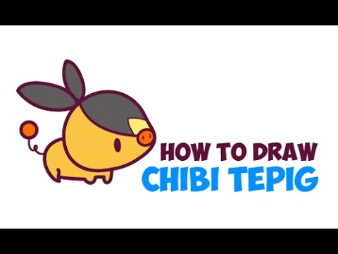 How To Draw Tepig Chibi Kawaii Baby From Pokemon