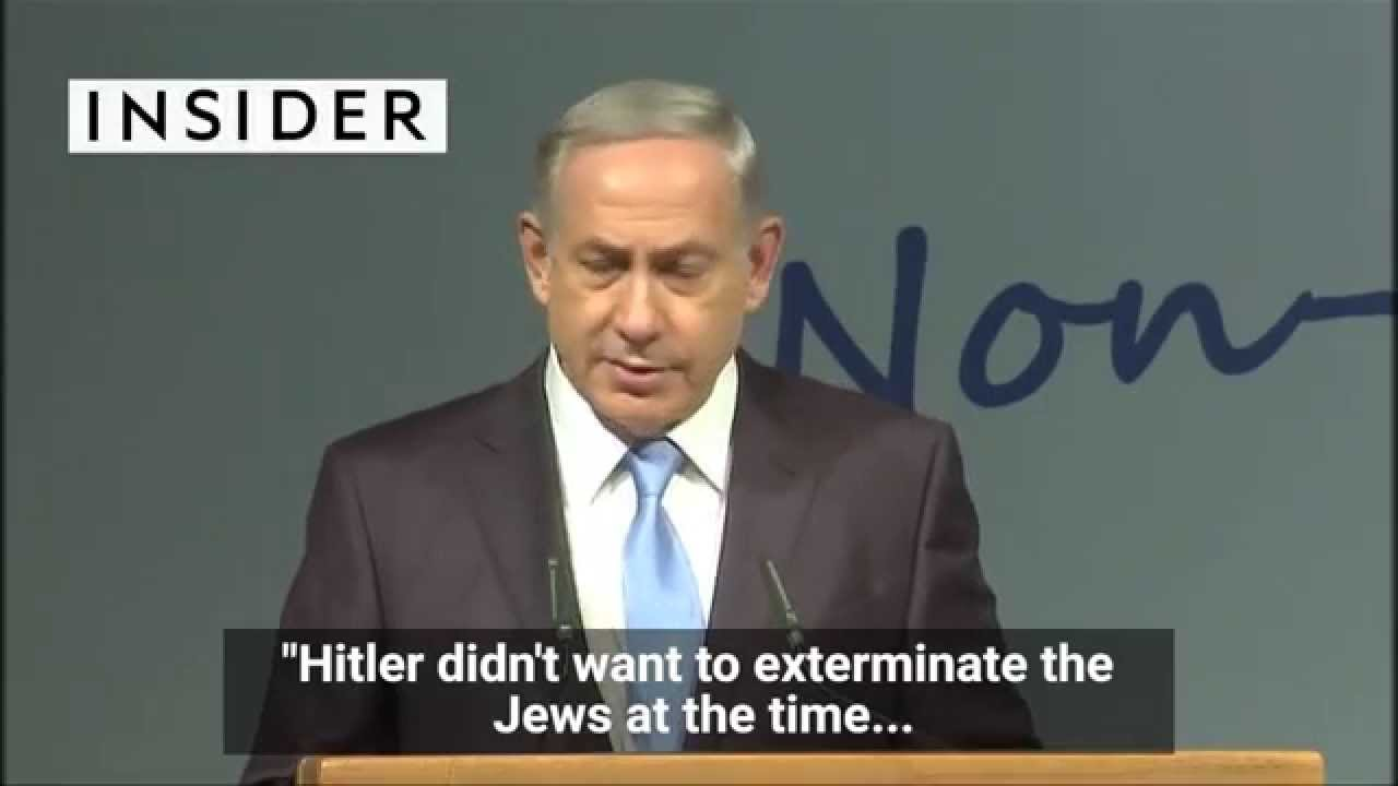 Download Netanyahu says Hitler didn't want to kill the Jews, but a Muslim convinced him to do it