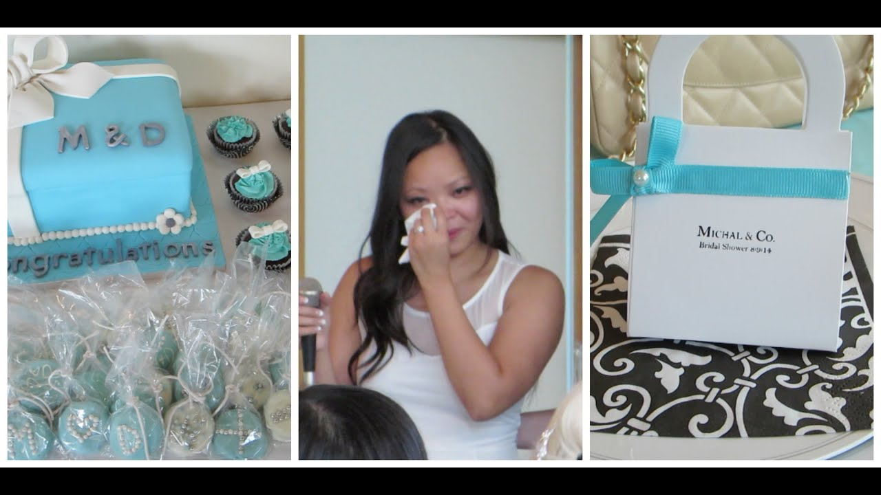 breakfast at tiffanys themed bridal shower vlog36 sodasworld youtube