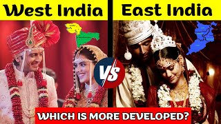 West India vs East India Comparison in Hindi | Indian states in Hindi | East VS West India