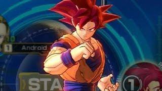 Dragon Ball Z: Battle of Z  - Super Saiyan God Goku Red Kamehameha Super Move Attacks