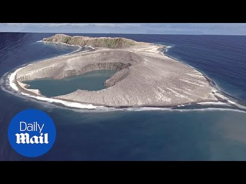 Download Eruption from submarine volcano creates new island in the South Pacific