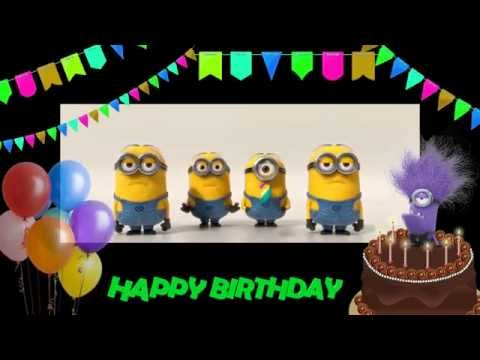 Minions Sing Happy Birthday Greeting From