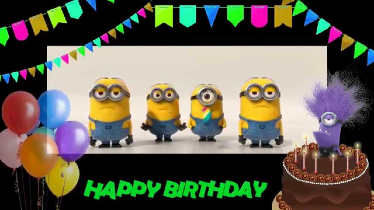 Happy Birthday To You Minions Free Happy Birthday Ecards 123 Greetings