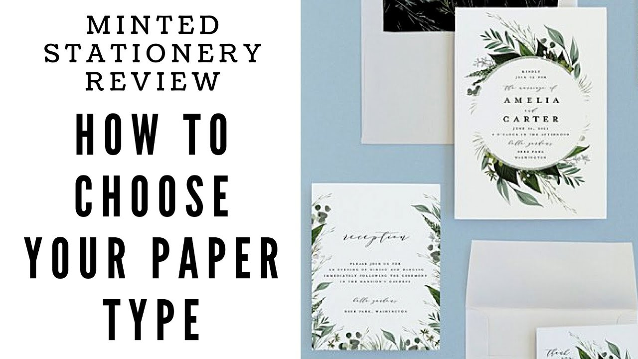 Minted Wedding Stationery Review Paper Types Youtube