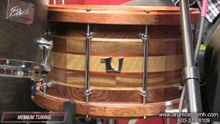 Video Demo: Unix Segment Hybrid Snare Drum w/ Bubinga Hoops 8x14
