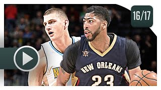 Nikola Jokic vs Anthony Davis BIG MEN Duel Highlights (2017.04.07) Nuggets vs Pelicans - SICK!
