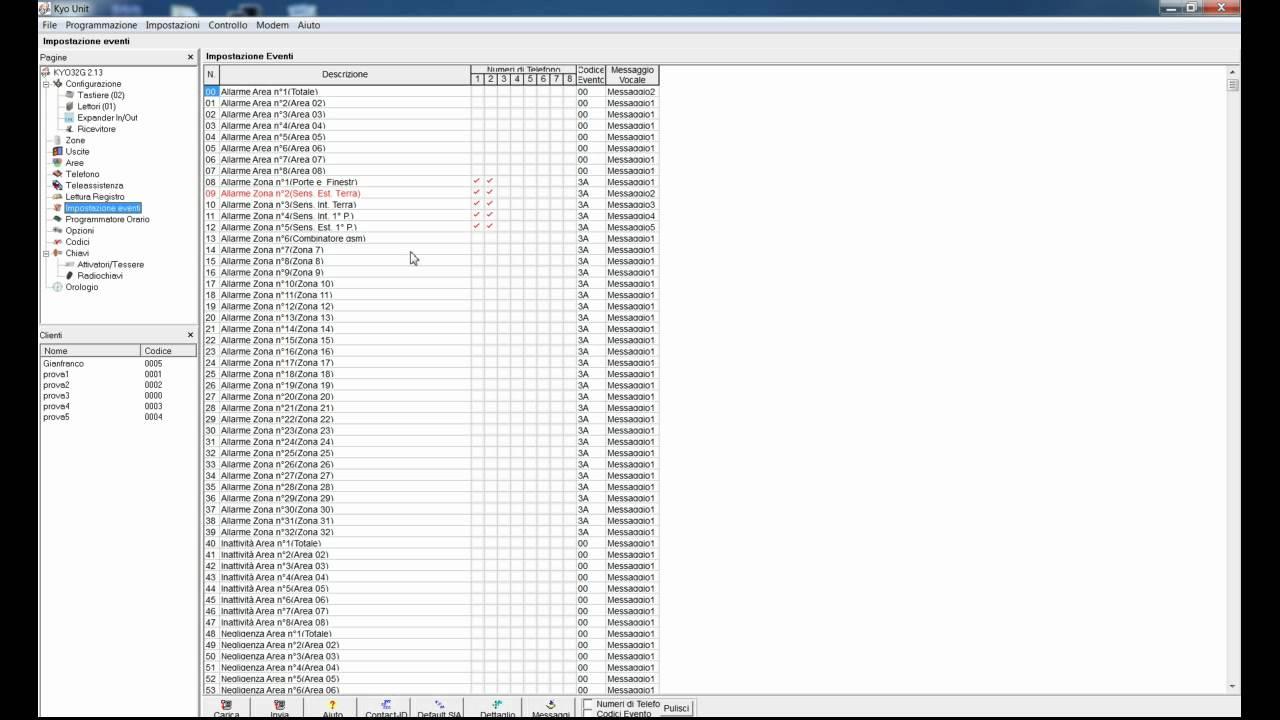 Programmazione kyo bentel con security suite da for Bentel security suite