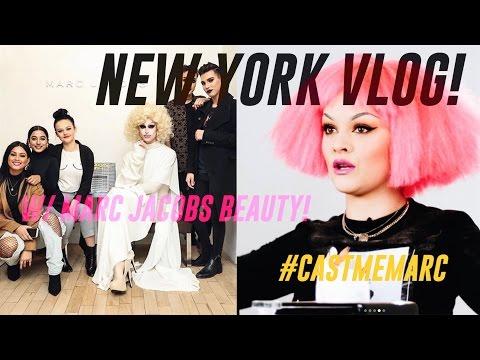 NEW YORK VLOG! W/Marc Jacobs Beauty! #castmemarc