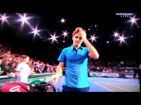 Roger Federer at the paris masters