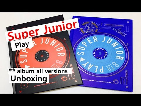 Super Junior play 8th album unboxing 슈퍼주니어 8집 スーパージュニア8集