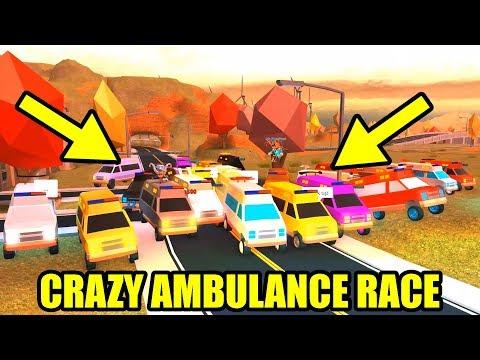Craziest Ambulance Race Ever Ambulance Vs Train Roblox Jailbreak Volcano Update Youtube