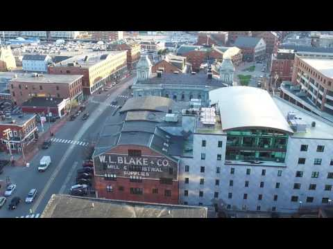 Old Port Aerial - Portland, Maine