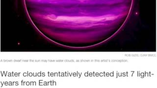 Brown Dwarf Water, Sun-Triggered Earthquakes