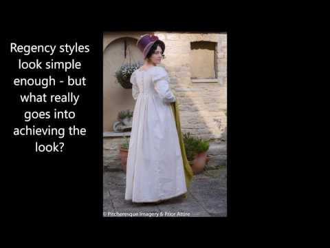 Dressing up a regency lady
