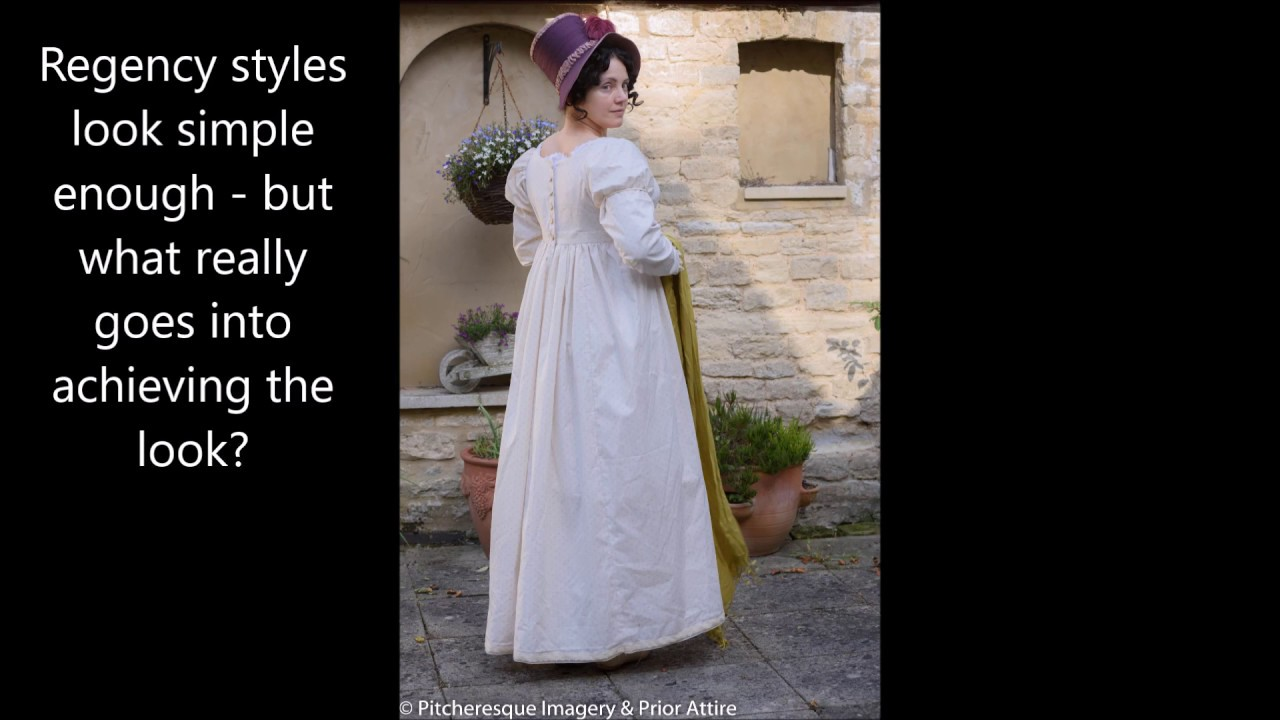 Dressing up a regency lady - YouTube