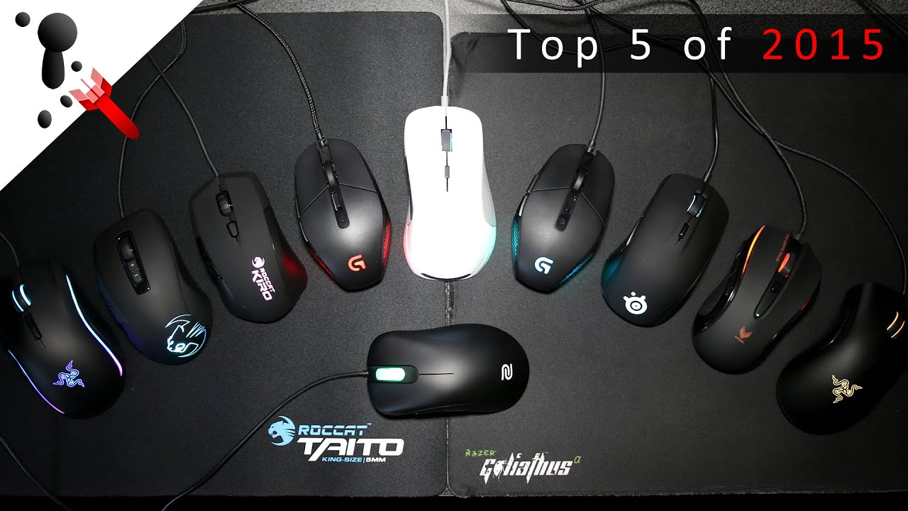 top five gaming mice