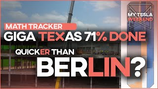 Giga Texas is racing to beat Giga Berlin and it's 71% done