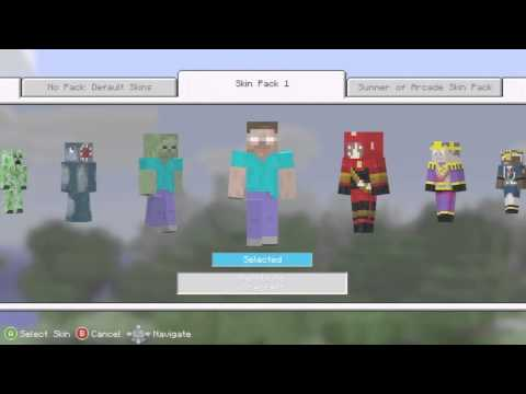 Download video: How to get Free MInecraft Skins for Xbox 360