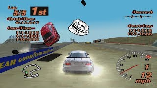 Gran Turismo 2 - Mercedes-Benz CLK Race Car PS1 Gameplay HD