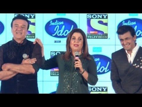 Anu Malik, Sonu Nigam, Farah Khan at Indian Idol New Season 9 Press Conference