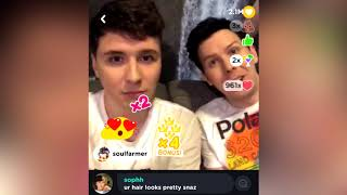 Recording of Dan and Phil's liveshow on the Rize app. Credits go to...