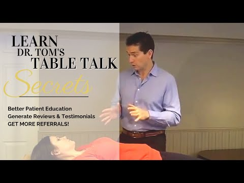 Chiropractic Marketing: Table Talk Systems For Growing Your Chiropractic Practice