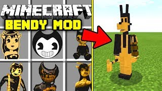REAL BENDY THE INK MACHINE MOD in Minecraft PE! | Bendy, Boris, Alice Angel & More!