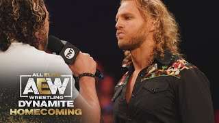 Hangman Finally Has Something to Say to the Elite, What was it? | AEW Dynamite: Homecoming, 8/4/21