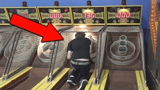 Stupid Kid Cheats at Arcade Skeeball