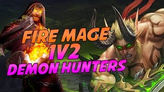 Cartoonz Fire Mage 1v2 Demon Hunters - Legion Arena PvP